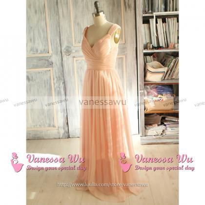 Light Pink Bridesmaid Dress with a ..