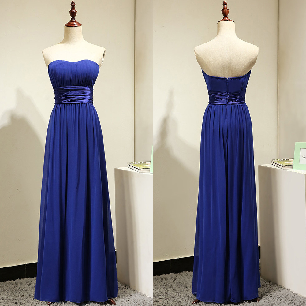 a line strapless bridesmaid dresses with ruching detail