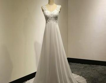 Affordable Empire Wedding Dresses With Cowl Back Illusion